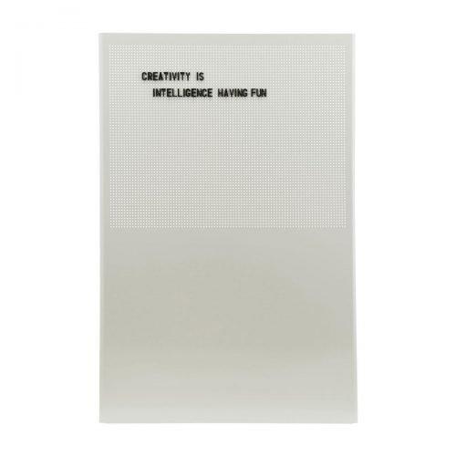 monograph noticeboard Grid Grijs