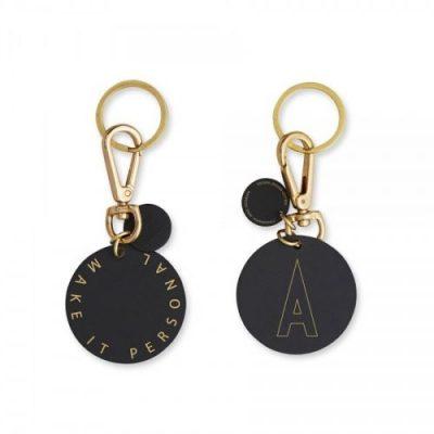 design letters personal keyring sleutelhanger a