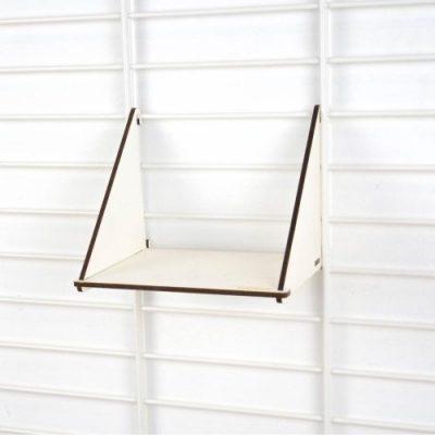 tolhuijs fency wandrek plank enkel geperst papier licht 19x18 cm