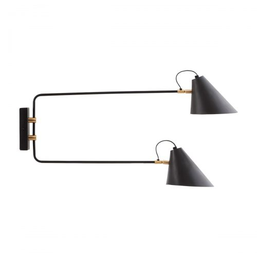 house doctor hanglamp club double zwart