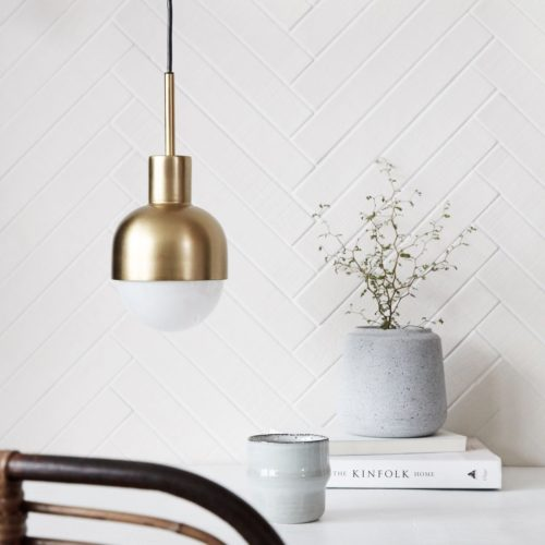 house doctor hanglamp glow brass goud