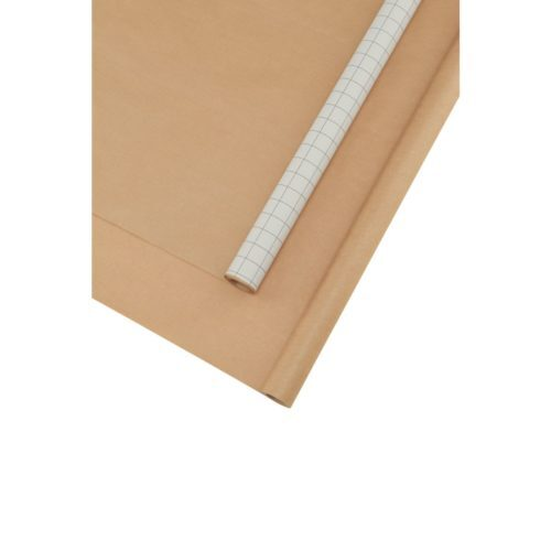 house doctor monograph gift wrapping inpakpapier kraft brown white bruin wit