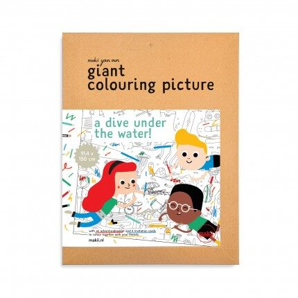 makii giant colouring picture turbo grote kleurplaat water