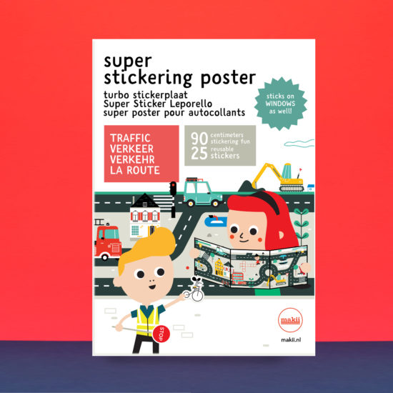 makii super stickering poster turbo stickerplaat traffic verkeer verkehr la route