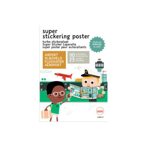 makii super stickering poster turbo stickerplaat airport vliegveld flughafen aeroport