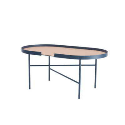 designbite big hug coffee table bijzettafel salontafel ovale ovaal midnight blue donkerblauw