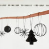 hubsch hübsch interior christmas kerst star ster leather strap leren band metal metaal black zwart