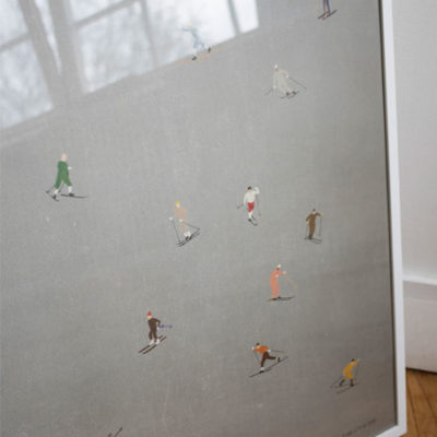 fine little day skiers poster ski 50 x 70 cm