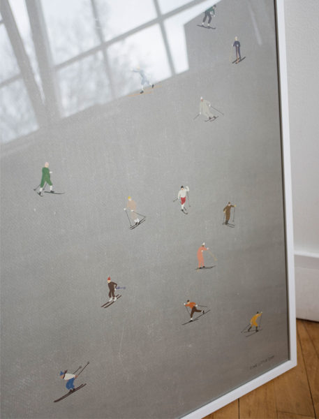 Fine Little Day Skiers Poster