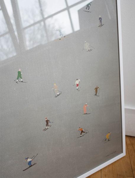 fine little day skiers poster ski 50 x 70 cm