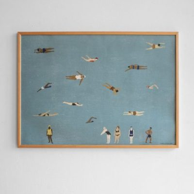 fine little day swimmers poster zwemmen 50 x 70 cm