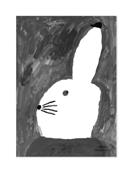 fine little day rabbit with small hat poster 50 x 70 cm