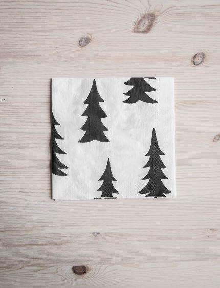 Fine Little Day paper napkins papieren servetten gran Black White Zwart Wit
