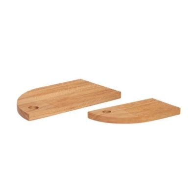hubsch hübsch interior cutting board snijplank oak eiken set of 2 set van 2 keuken woonaccessoires