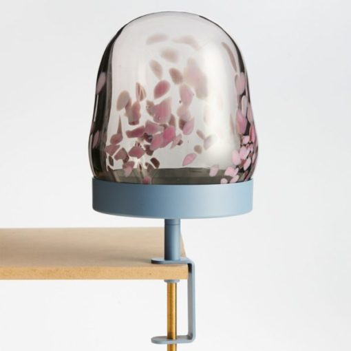 navet stkhlm bricka clamp tray glas glass dome bubble smoke lavender confetti woonaccessoires