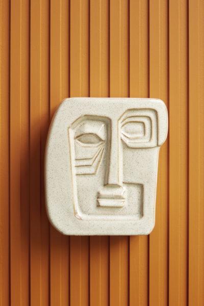 hubsch hübsch interior wall art ceramics wand beeld kunst keramiek beige zand