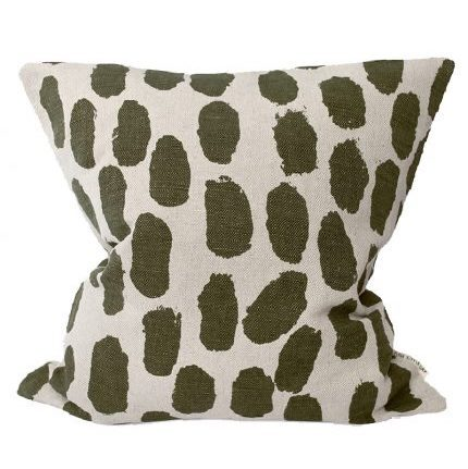 fine little day dots cushion cover olive kussenhoes olijf