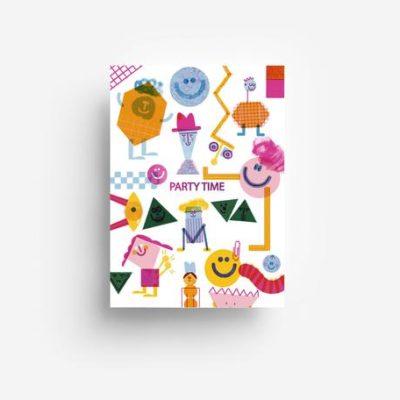 jungwiealt barbara dziadosz postkarte postcard ansichtkaart kaart party time creatures