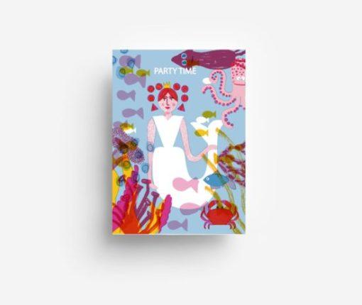 jungwiealt barbara dziadosz postkarte postcard ansichtkaart kaart party time mermaid underwater