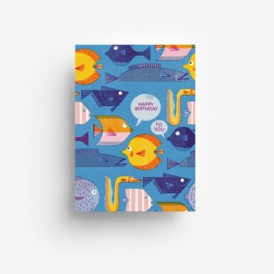 jungwiealt barbara dziadosz postkarte postcard ansichtkaart kaart birthday fishes