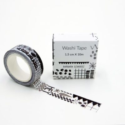 jungwiealt barbara dziadosz washi tape black and white zwart en wit