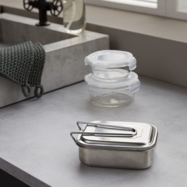 Society of Lifestyle House Doctor Lunchbox Brotdose lunch box brooddoos boxit silver finish small