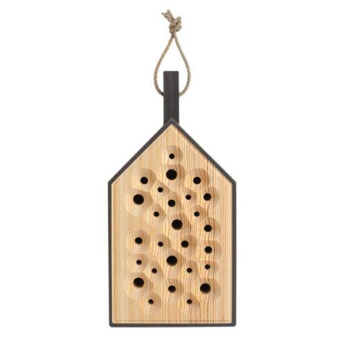 BIBO bee hotel bijen hotel bienenhotel antraciet anthracite grijs tykky loland design outdoors garden garten tuin accessoires