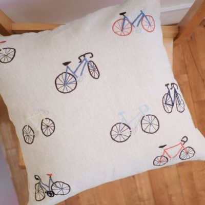 kussenhoes 50 x 50 cm cushion cover kissenbezug bicycles fine little day tykky textiel woonaccessoires