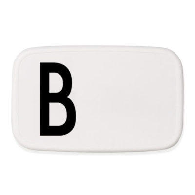 design letters personal lunchbox lunch box broodtrommel B