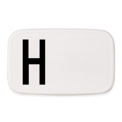 design letters personal lunchbox lunch box broodtrommel H