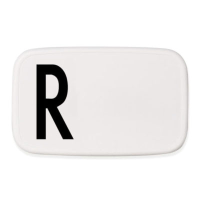 design letters personal lunchbox lunch box broodtrommel R