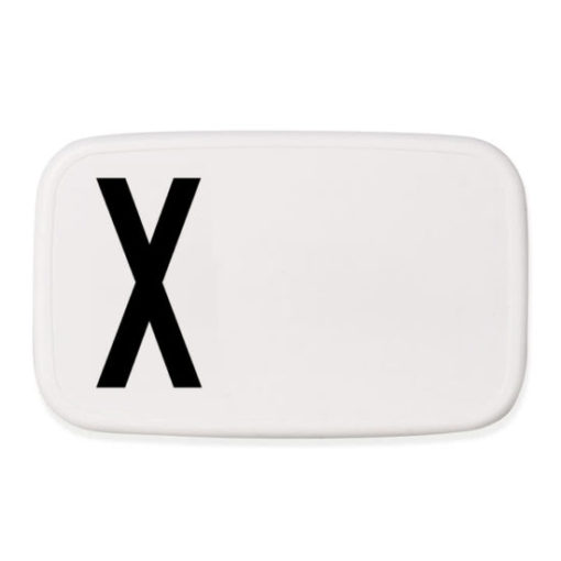 design letters personal lunchbox lunch box broodtrommel X