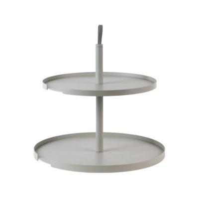 etagere cake stand tortenstand 2 level bone lichtgrijs grijs grey keukenaccessoires design bite