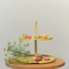 etagere cake stand tortenstand 2 level lemon licht geel gelb keukenaccessoires design bite