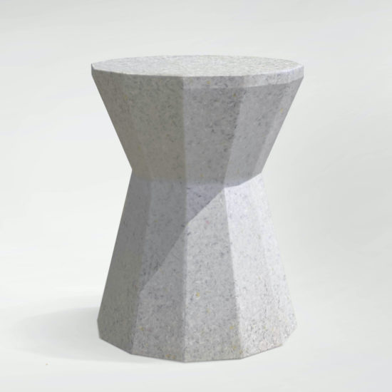 mabel stone grijs sidetable coffee table salontafel duurzaam design recycled material small revolution dk tykky danish design