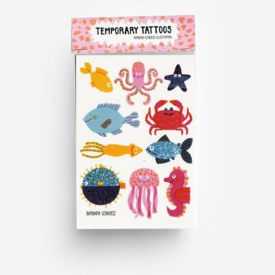 temporary tattoos underwater animals onderwater dieren tiere kids toys accessories jungwiealt tykky gift idea cadeau idee
