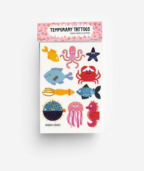 temporary tattoos underwater animals onderwater dieren tiere kids toys accessories jungwiealt tykky gift idea cadeau idee