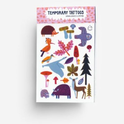 temporary tattoos woodland animals bos dieren wald tiere kids toys accessories jungwiealt tykky gift idea cadeau idee