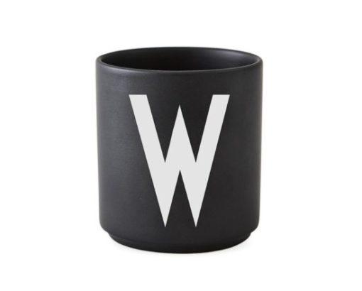 design letters favourite favorite cup beker mok black zwart w tykky keuken servies accessoires woonaccessoires