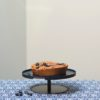 etagere cake stand kuchenplatte 1 level midnight blue donker blauw dunkel blau keukenaccessoires designbite tykky
