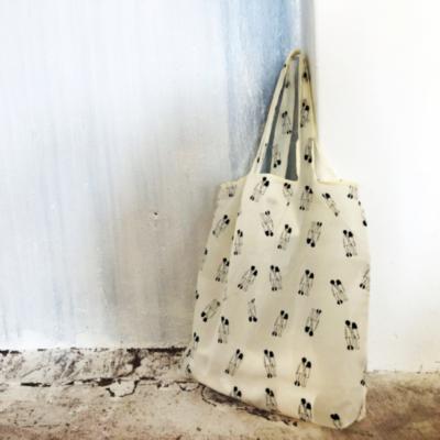 opvouwbare tas foldable bag faltbare tasche reusable herbruikbaar naked couple helen b tykky woonaccessoires