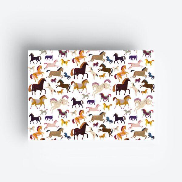 Inpakpapier Gift Wrap Horses