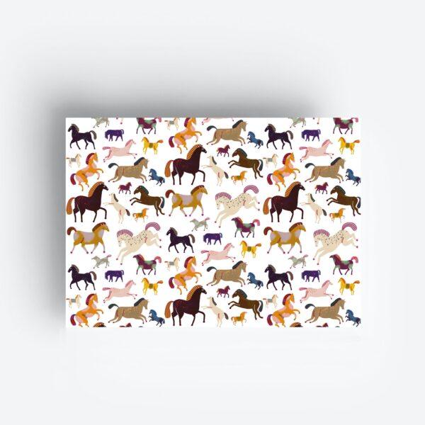 inpakpapier gift wrapping geschenkpapier horses paarden pferde jungwiealt tykky stationary products verjaardag birthday geburtstag mädchen girls meisjes