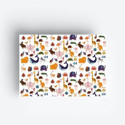 inpakpapier geschenkpapier gift wrapping paper jungwiealt animals tykky stationary accessoires kado cadeau inpakken