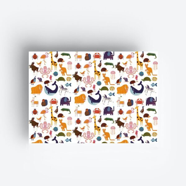 Inpakpapier Gift Wrap ANIMALS
