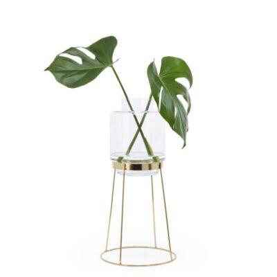 puik design tykky monday vase met standaard goud gold woonaccessoires vazen glas home deco styling
