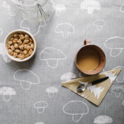 tablecloth tischdecke tischtuch tafelkleed 140x250 cm mushroom tykky fine little day kitchen accessories keukentextiel