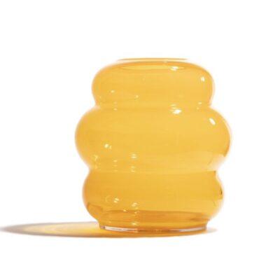 muse vase xl saffron fundamental berlin tykky scandinavische woonaccessoires handblown glas mondeblazen vazen