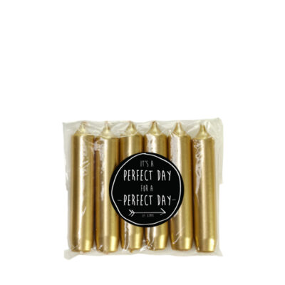 dinerkaarsen goud kerzen gold perfect day rustik lys tykky unieke cadeaus einzigartige geschenke