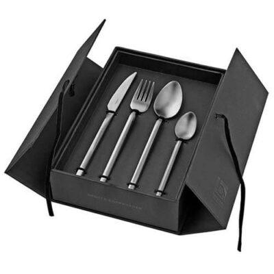 broste copenhagen bestekset 16 delig satin tvis tykky rustik lys servies keuken accessoires besteck cutlery
